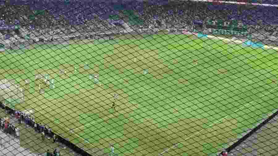 Setor de visitante com rede no Allianz Parque - Divulgação/Fluminense