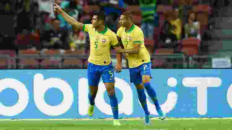 Casemiro marcou o gol de empate para o Brasil no amistoso contra a Nigéria - Roslan Rahman/AFP - Roslan Rahman/AFP