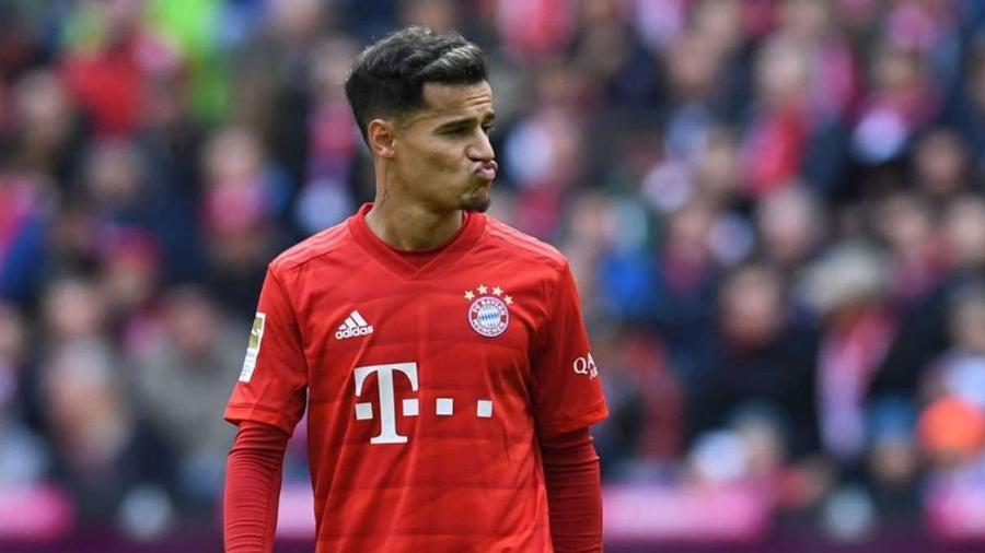 Philippe Coutinho, em ação pelo Bayern de Munique, time que tem o deixado no banco de reservas - Getty Images