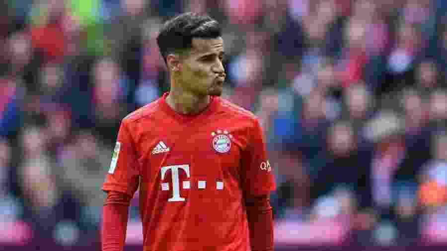 Philippe Coutinho em ação pelo Bayern de Munique, time que tem deixado o brasileiro no banco de reservas - Getty Images