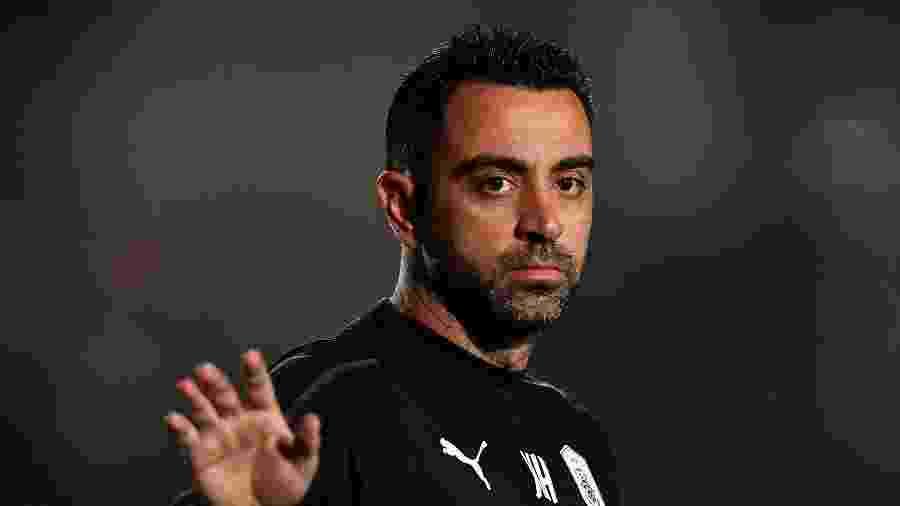 """Xavi Hernández, ex-jogador do Barcelona e atual técnico do Al-Sadd, pensa em um futuro no clube, mas """"não agora"""" - Nikku/Xinhua"""