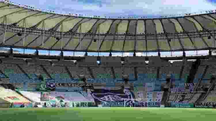 Torcida do Fluminense levou faixas para a arquibancada do Maracanã - Arquivo pessoal - Arquivo pessoal
