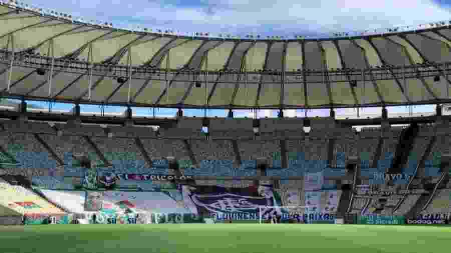 Torcida do Fluminense levou faixas para a arquibancada do Maracanã, que pode voltar a ter público já em outubro - Arquivo pessoal
