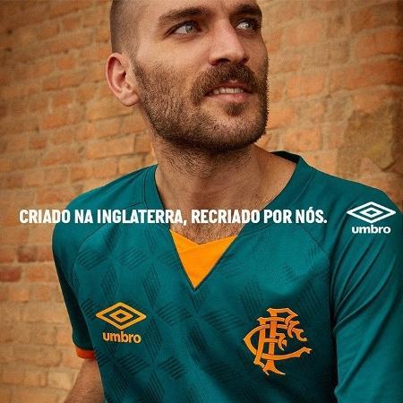 Fluminense lançou terceira camisa na cor verde, com detalhes em laranja - Reprodução/Fluminense