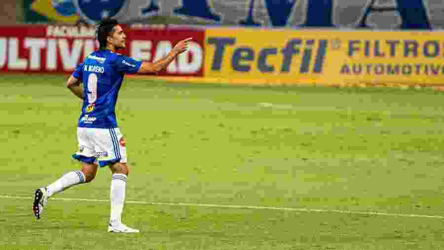 Marcelo Moreno comemora gol marcado para o Cruzeiro contra o Paraná - Alessandra Torres/AGIF