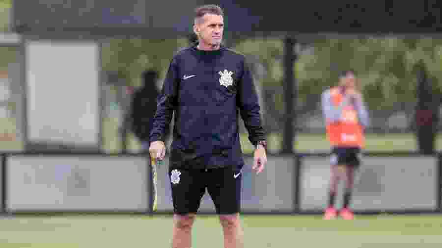 Vagner Mancini durante treino do Corinthians hoje (30) à tarde, no CT Joaquim Grava - Rodrigo Coca