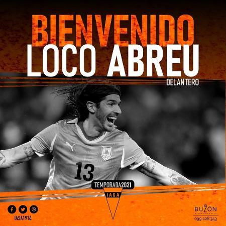 Loco Abreu é apresentado como novo reforço do Sud América, do Uruguai - Instagram