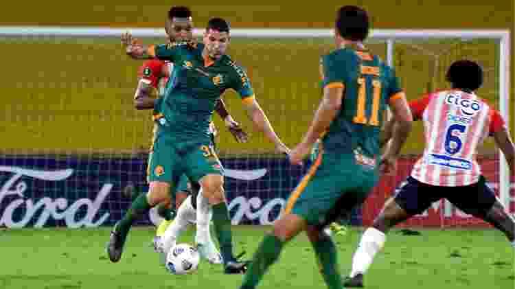 Nino foi o melhor em campo do Fluminense no empate com o Junior-COL pela Libertadores - Mailson Santana/Fluminense FC - Mailson Santana/Fluminense FC