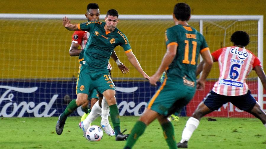 Nino foi o melhor em campo do Fluminense no empate com o Junior-COL pela Libertadores - Mailson Santana/Fluminense FC