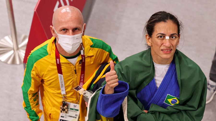 Lúcia Araújo conquistou a medalha de bronze na categoria até 57kg do judô nas Paralimpíadas 2020 - Takuma Matsushita/CPB