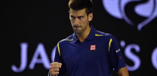 Novak Djokovic venceu alcançou quinta final de Aberto da Austrália em seis anos - Paul Crock/AFP Photo