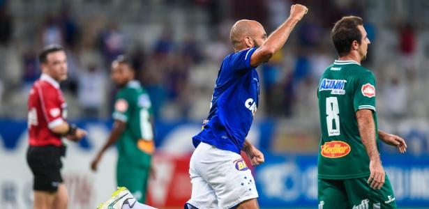 Bruno Rodrigo marca pelo Cruzeiro diante do Uberlândia - Lucas Bois/Light Press/Cruzeiro