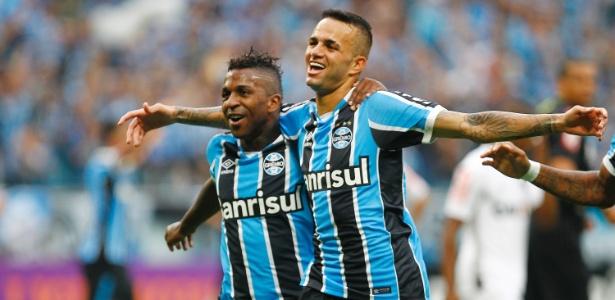 Luan abre o placar para o Grêmio contra o Atlético-MG