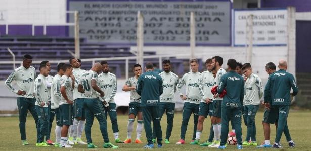 Palmeiras fez o último trabalho antes do jogo contra o Peñarol
