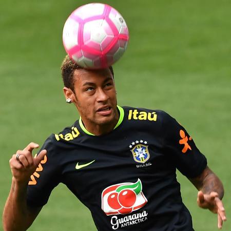 Neymar, atacante da seleção brasileira - AFP PHOTO / NELSON ALMEIDA