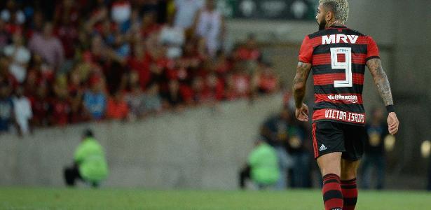 O atacante Gabigol ainda não balançou as redes com a camisa do Flamengo - Alexandre Vidal/Flamengo