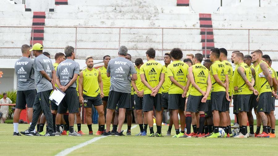 O time do Flamengo seguirá os treinamentos na sede da Gávea diante de uma série de problemas - Alexandre Vidal/Flamengo