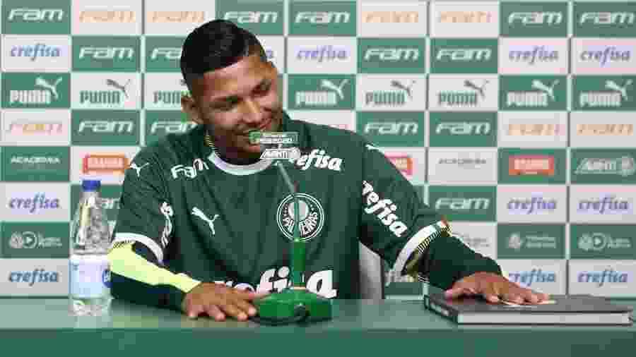 Rony durante apresentação no Palmeiras - Cesar Greco/Ag. Palmeiras/Divulgação