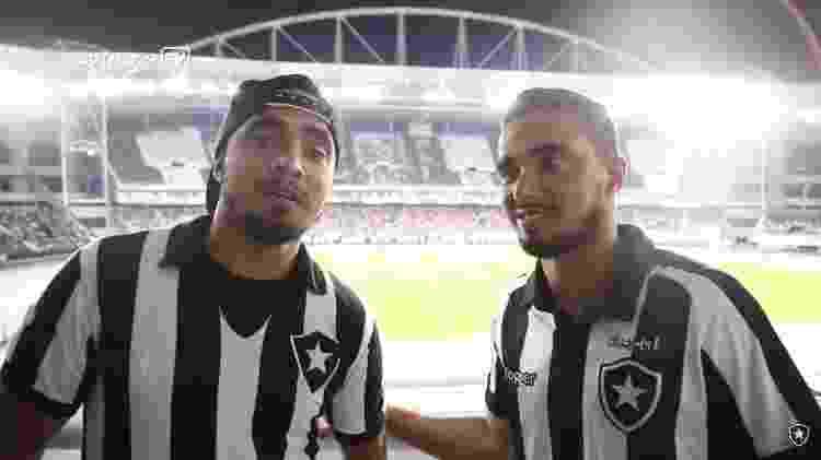 Rafael (dir) e Fábio (esq) foram revelados pelo Fluminense, mas nunca esconderam paixão pelo Botafogo - Reprodução Botafogo TV - Reprodução Botafogo TV
