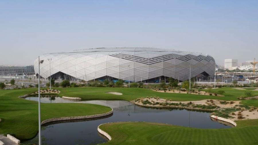 05.junho.2020 Estádio da Cidade Educação, em Doha (Catar), é entregue para a Copa do Mundo de 2022 - Reprodução/Confederação Asiática de Futebol (AFC)