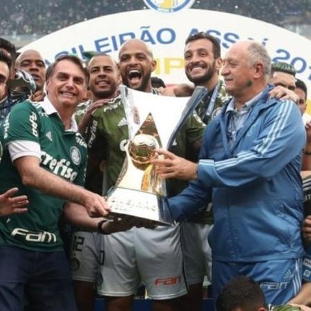 Em 2018 Bolsonaro foi ao Allianz Parque, estádio do Palmeiras, e participou da festa - Lucas Figueiredo/CBF/Fotos Públicas