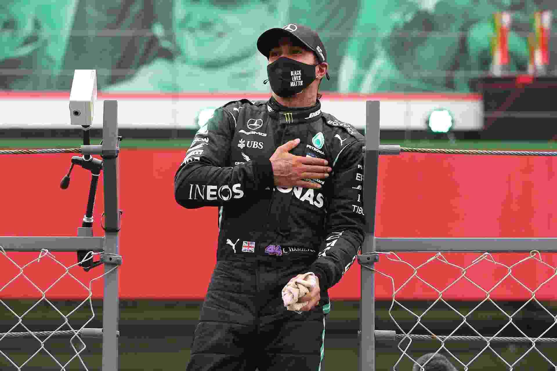 Lewis Hamilton ganha o GP de Portugal e, com 92 vitórias, vira o maior vencedor da história da Fórmula 1 - Jose Sena Goulao - Pool/Getty Images