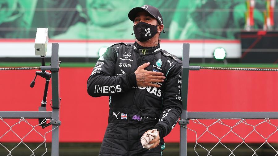 Lewis Hamilton se tornou o maior vencedor da história da Fórmula 1 em 2020 - Jose Sena Goulao - Pool/Getty Images