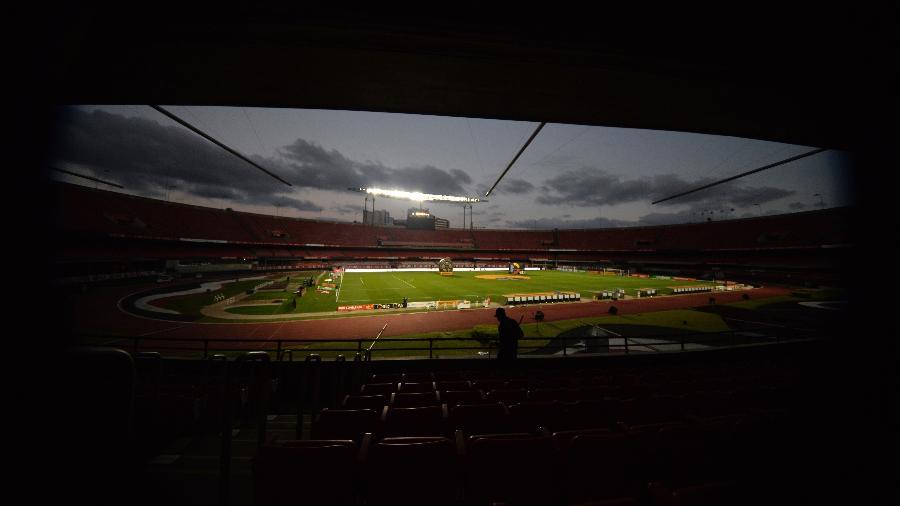 Vista geral do estádio Morumbi vazio - Bruno Ulivieri/AGIF