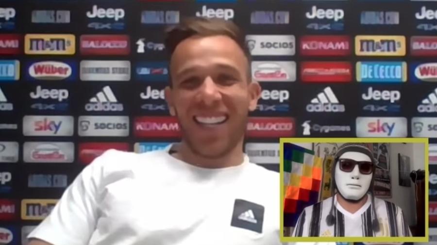 Arthur, da Juventus, explica cobranças de Pirlo e relacionamento com CR7 - Reprodução/YouTube