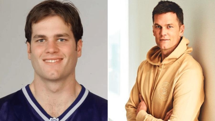 """Tom Brady compartilha """"antes e depois"""" com 22 anos e surpreende a web - Instagram"""