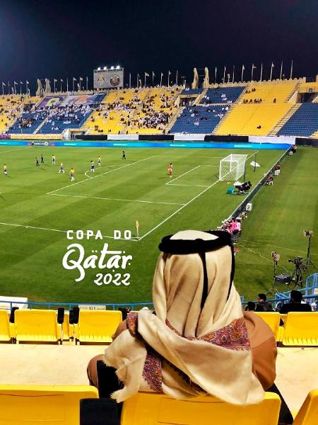 Jogo no estádio do Al Gharafa contra o Al Sadd, em dezembro de 2019, com pouquíssimos torcedores - Tiago Leme