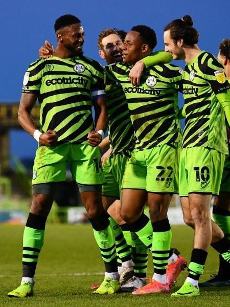Forest Green teve a sexta campanha da League Two e agora tenta virar um 2 a 0 no mata-mata pelo acesso - Dan Mullan/Getty Images