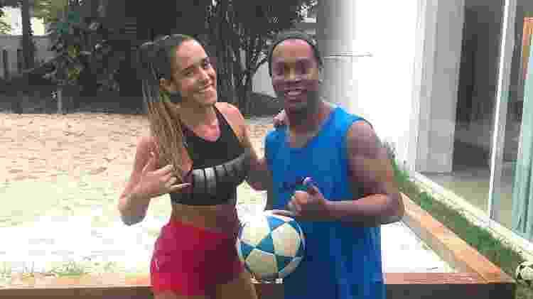 Natália Gliter conheceu teqball na casa de Ronaldinho Gaúcho, de quem é muito amiga - Reprodução/Instagram - Reprodução/Instagram