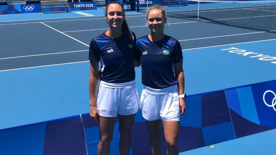 Luisa Stefani e Laura Pigossi mostraram poder de reação e fizeram bonito no match tie-break - Divulgação/CBT