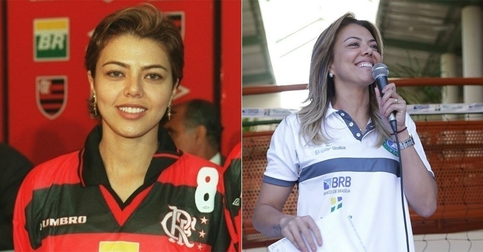 Leila foi outra musa do vôlei que arrebatou corações nas quadras. Casada com o Emanuel, hoje é comentarista esportiva da TV Globo