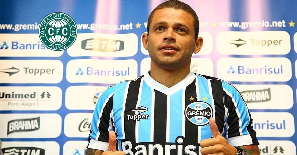 Montagem - Edinho (volante) - Do Grêmio para o Coritiba