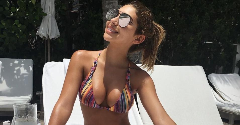 Chantel Jeffries, modelo e ex-namorada de Justin Bieber, foi flagrada com Paul Pogba em Manchester