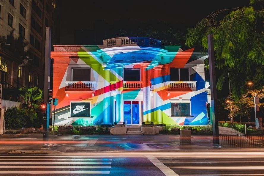 A casa da Nike, em São Paulo, recebeu Vinicius Junior e nomes do futebol nos últimos dias