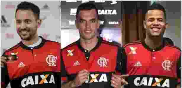 Everton Ribeiro, Rhodolfo e Geuvânio são as soluções do Flamengo contra a má fase - Montagem/UOL