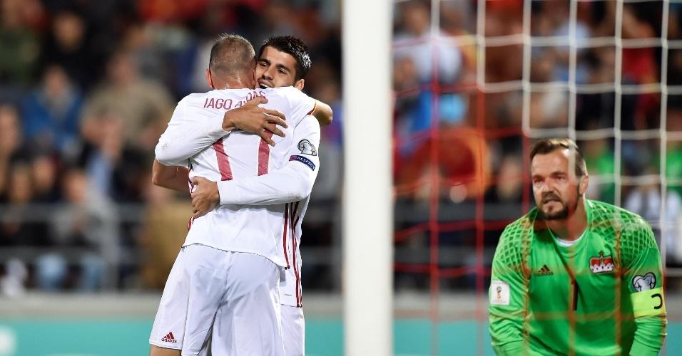 Jehle lamenta o gol de Iago Aspas em Espanha x Liechtenstein