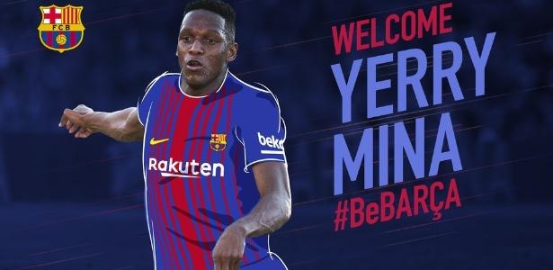 Imagem utilizada pelo Barcelona no anúncio da contratação de Mina