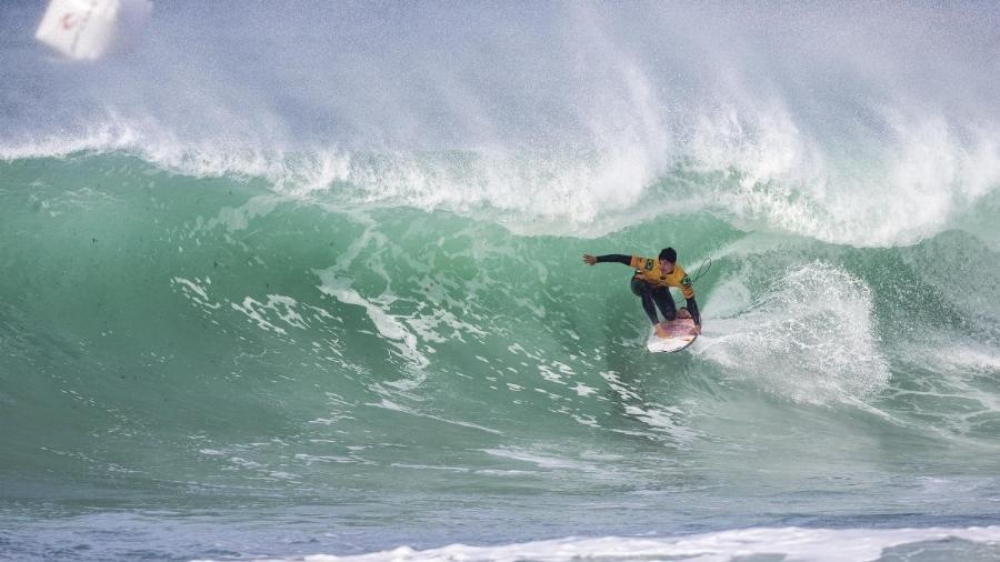 Gabriel Medina, durante etapa de Portugal do Circuito Mundial de Surfe - WSL / LAURENT MASUREL