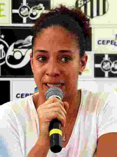 A jogadora Aline Pellegrino - Pedro Ernesto Guerra Azevedo/Santos FC