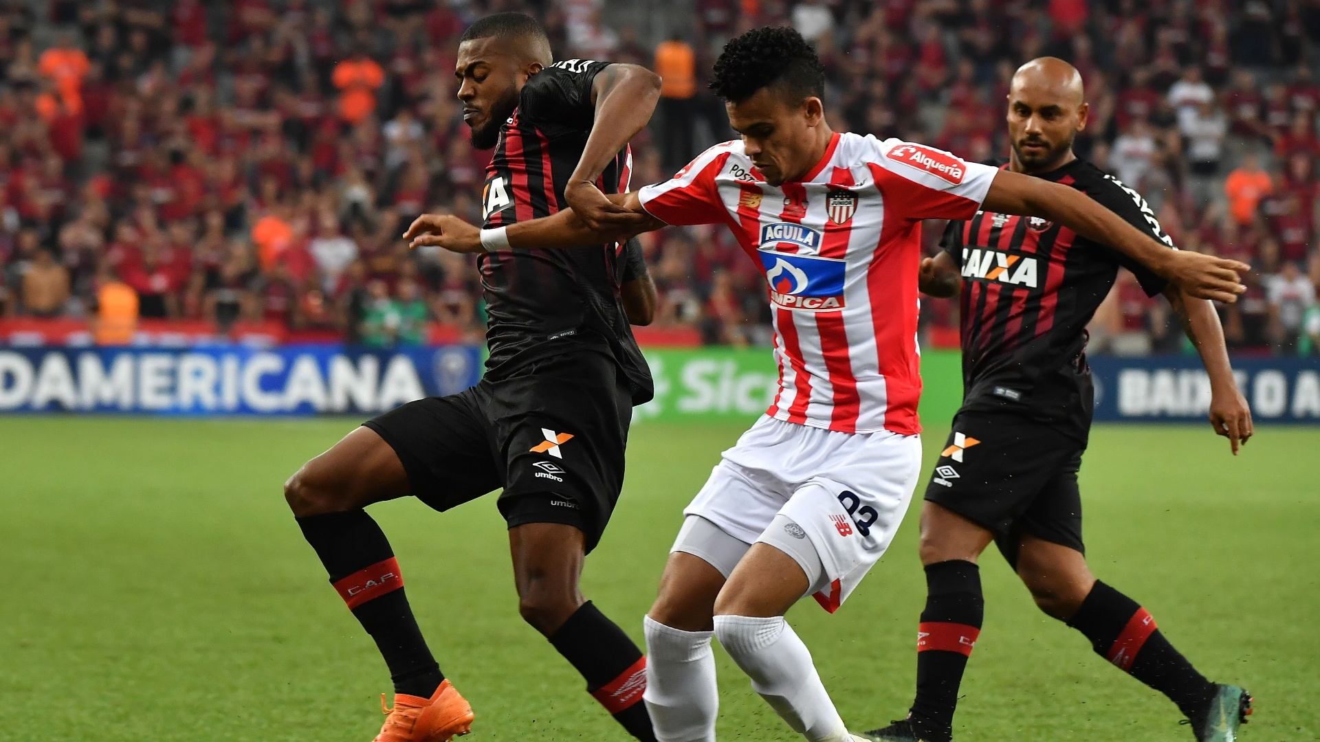Marcelo Cirino, durante final entre Atlético-PR e Junior de Barranquilla