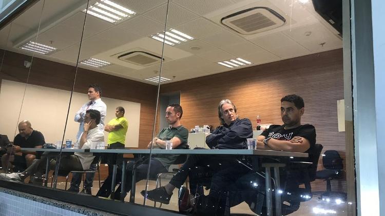 Jorge Jesus acompanhou Flamengo x Vasco - Bruno Braz/UOL