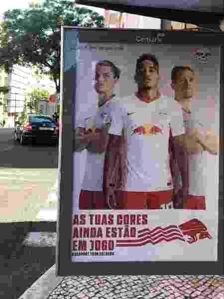 Propaganda do RB Leipzig em Lisboa, sede da fase final da Liga dos Campeões - João Henrique Marques/UOL - João Henrique Marques/UOL