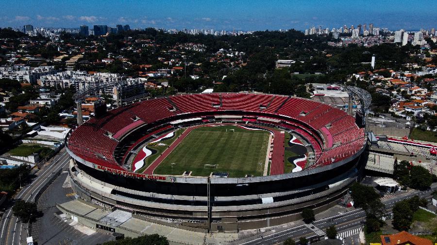Estádio do Morumbi em vista aérea - Alexandre Schneider/Getty Images
