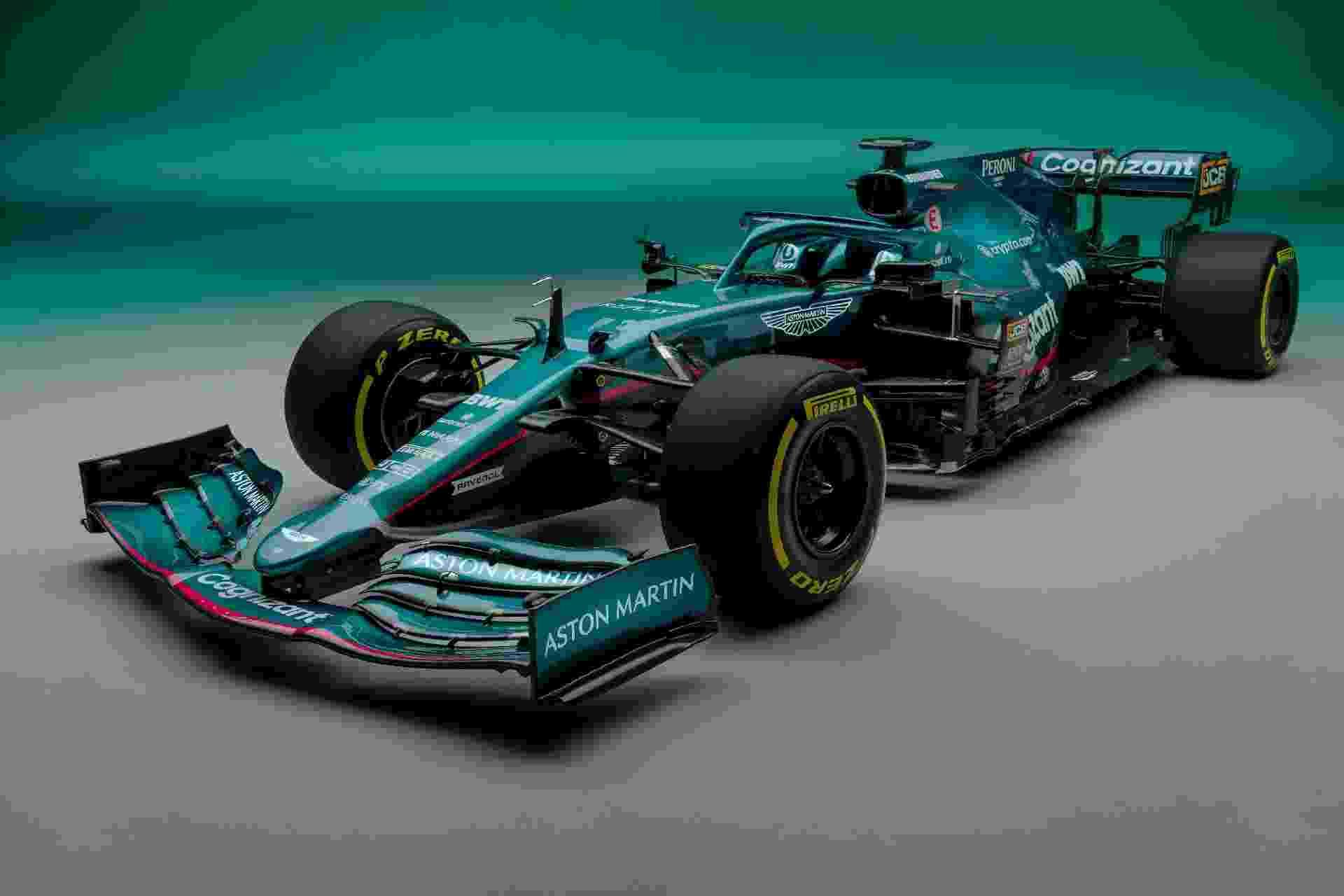 Aston Martin tem atraído muito patrocinadores e também contratou o tetracampeão Sebastian Vettel - Divulgação/Aston Martin
