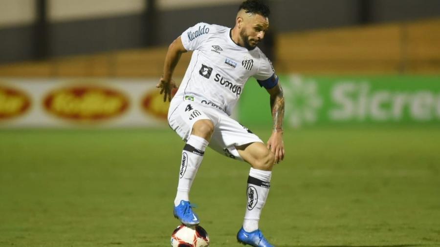 Pará durante a partida entre Santos e Novorizontino, pelo Campeonato Paulista - Divulgação / Santos FC