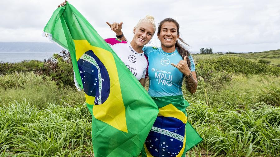 Surfistas brasileiras Tatiana Weston-Webb e Silvana Lima - Getty Images